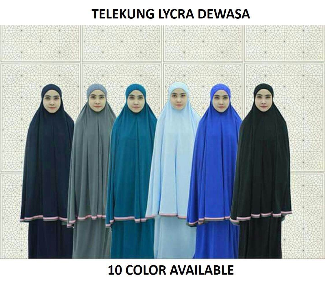 Muslimah Wear- Telekung Lycra Lace Dewasa Collection 10