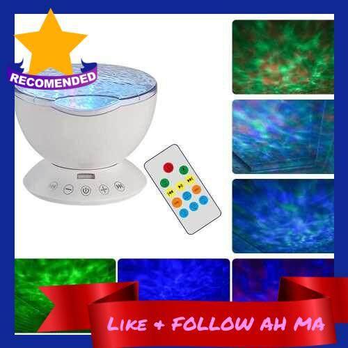 Best Selling Usb Ocean Wave Projector Light Remote Control 7 Lighting Modes Timer Function Music Speaker Machine Leds Baby Night Light For Bedroom Decoration Living Room White