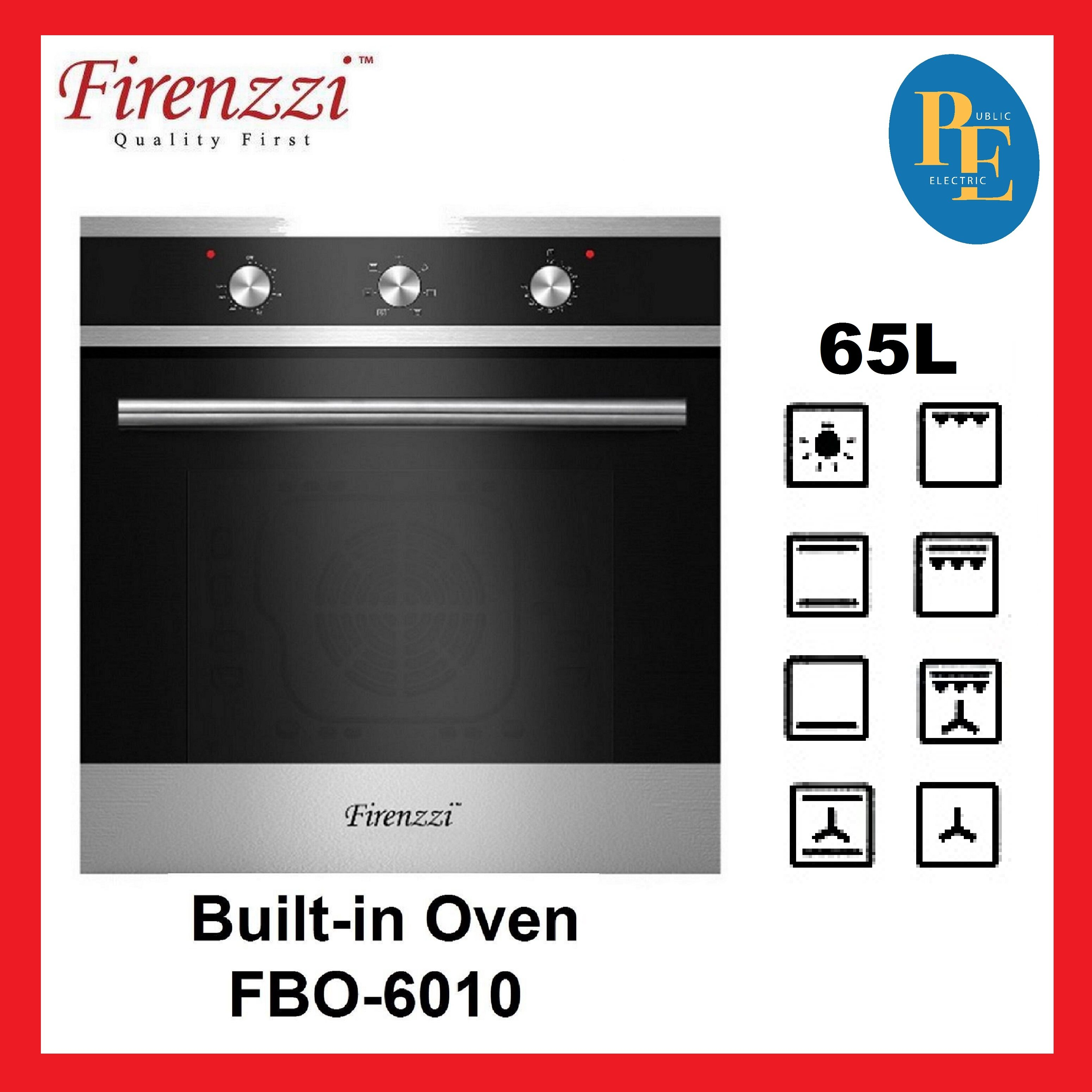 Firenzzi Mechanical Control 8 Functions Buint-in Oven 65L - FBO-6010