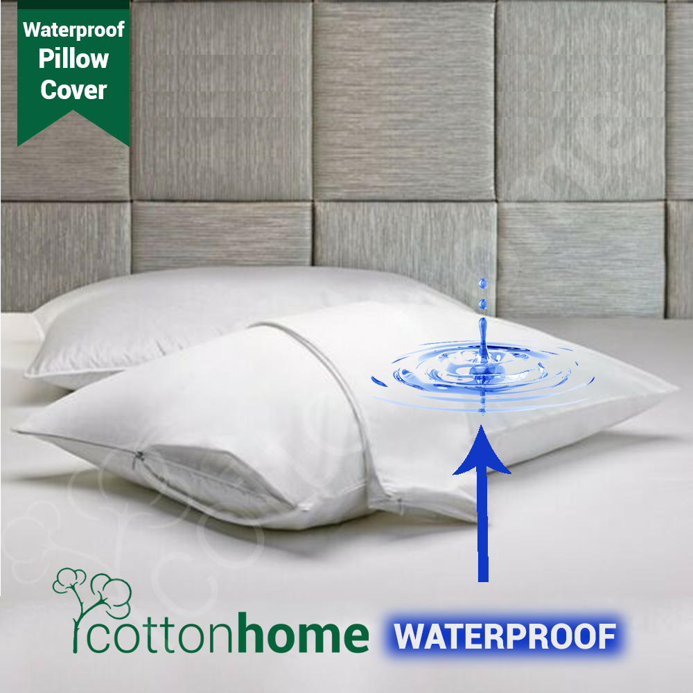 Waterproof Pillow Cover Case WITH zip / WATER-PROOF / READY STOCK /  Size: 18inch x 28inch / Anti-bacterial and anti-dustmite
