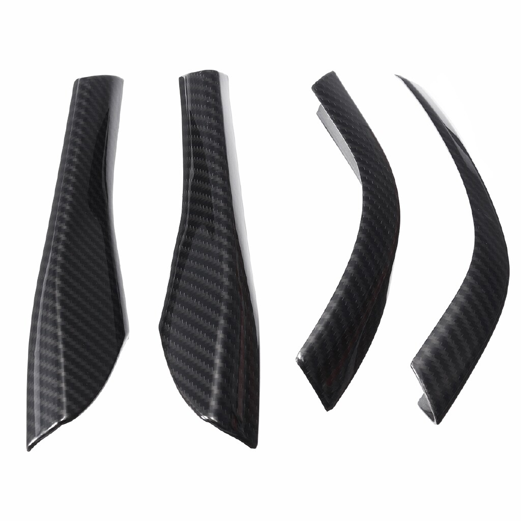 Automotive Tools & Equipment - 4 PIECE(s) ABS Carbon Rearview Mirror Base Cover Trim Strip For Ford Mustang 2015- - Car Replacement Parts