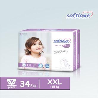 SoftLove Platinum Baby Pants / XXL size - 34pcs