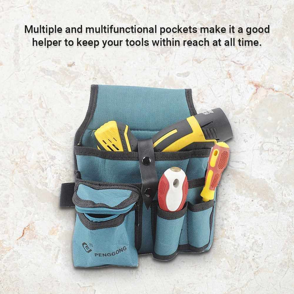 104 Hardware Tools Storage Bag Thickened Oxford Cloth Multifunctional Waist Bag Electrician's Toolkit (Standard)