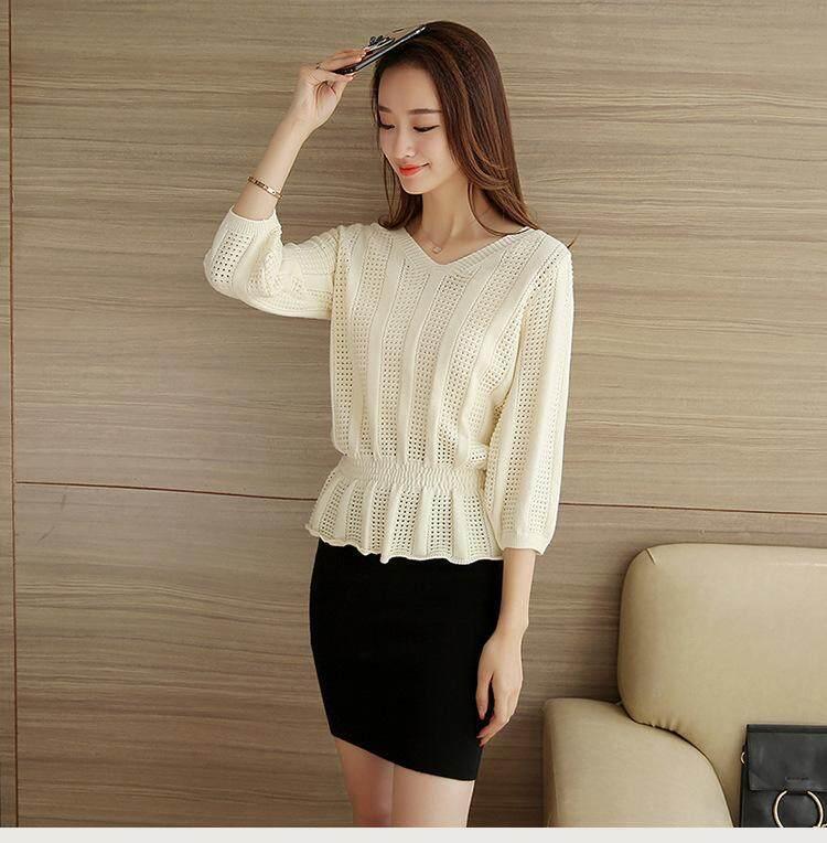 (Pre Order14 Days JYS Fashion Korean Style Women Knit TopCollection525-1856col525-1856--Rice White-S