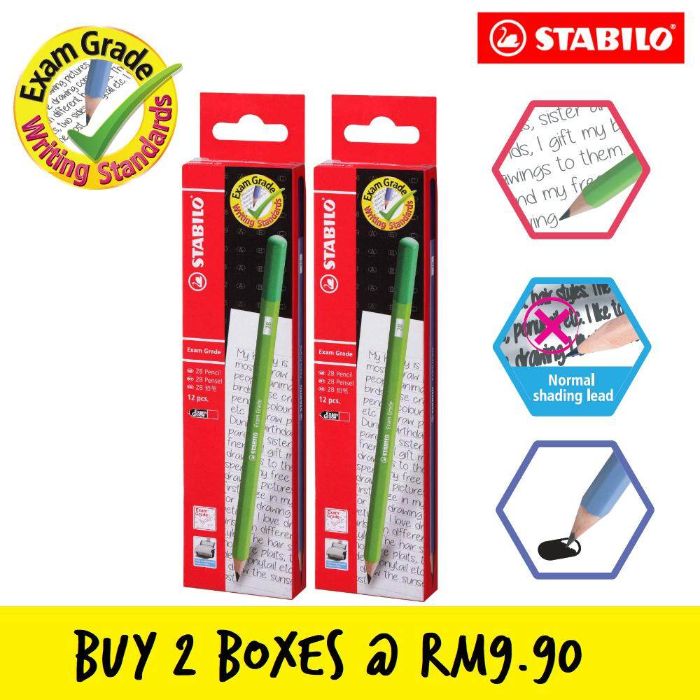 STABILO Exam Grade 2B Writing Pencil (Twin Pack Promotion) (Box of 12)