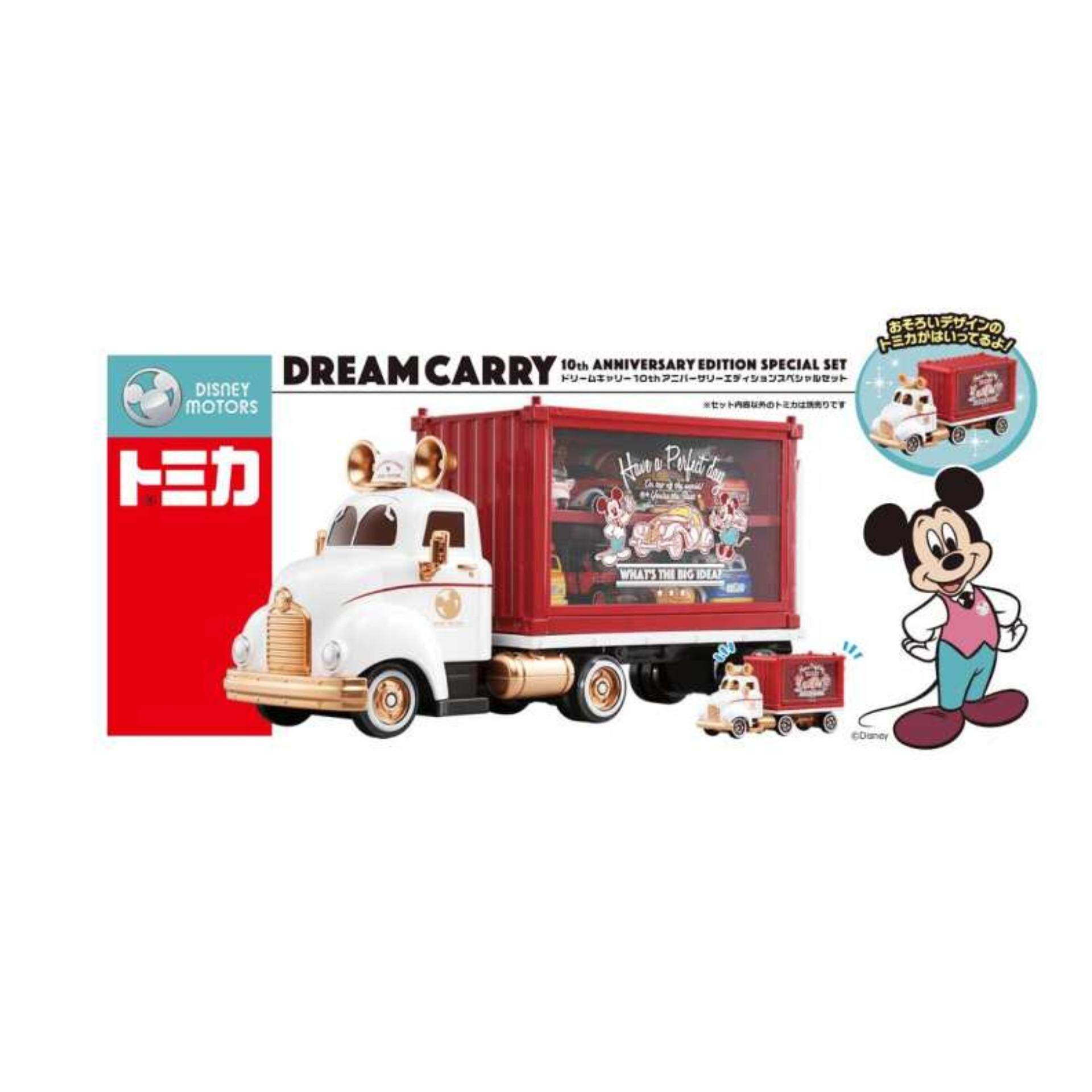 Takara Tomy Disney Motors Dream Carry Mickey Tomica Truck - 10th Anniversary Special Set Toys for boys
