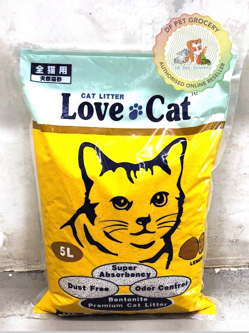 LOVE CAT Premium Cat Litter 5L Lemon