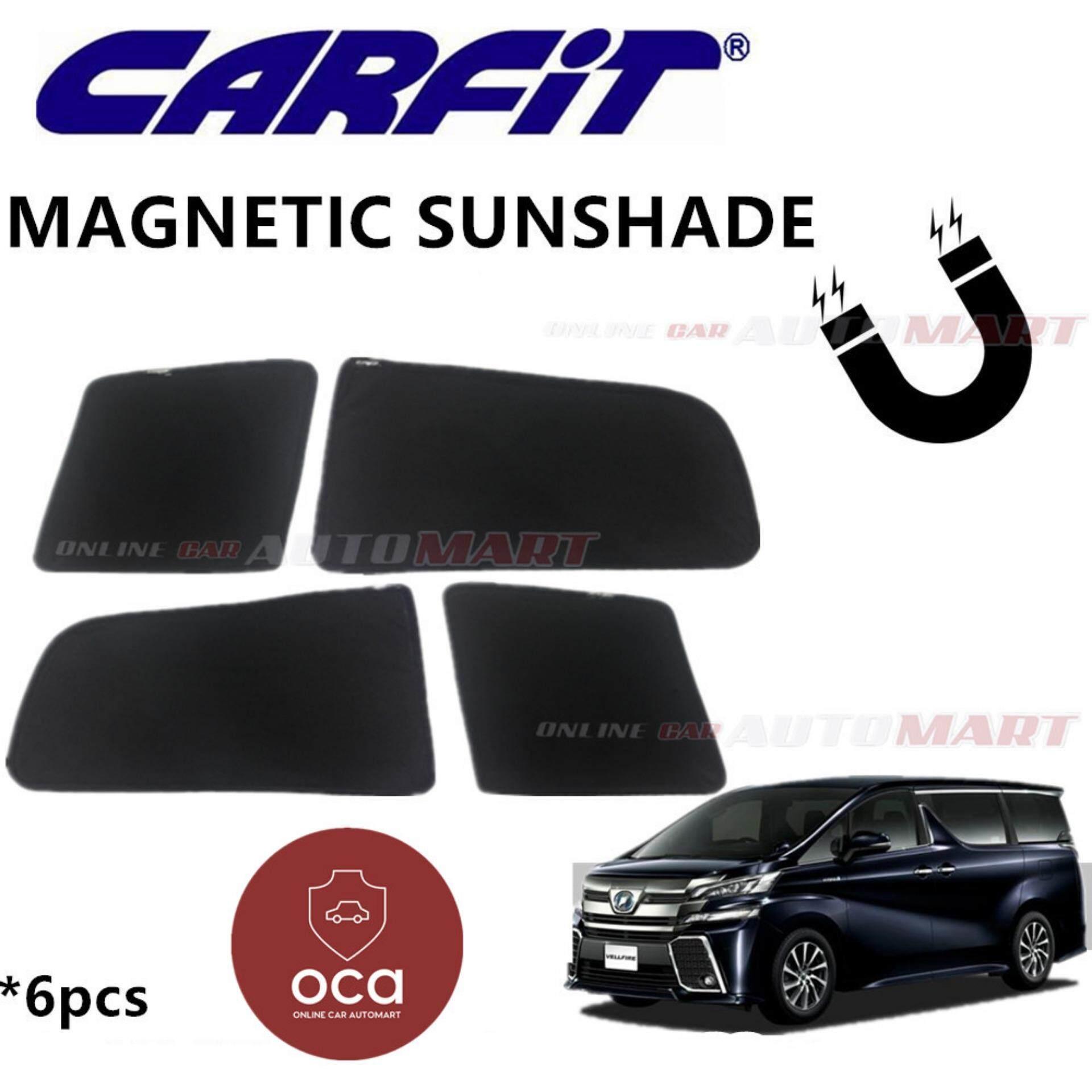 CARFIT OEM Magnetic Custom Fit Sunshade For Toyota Alphard/Vellfire Yr 2015-2018 (6pcs Sets)