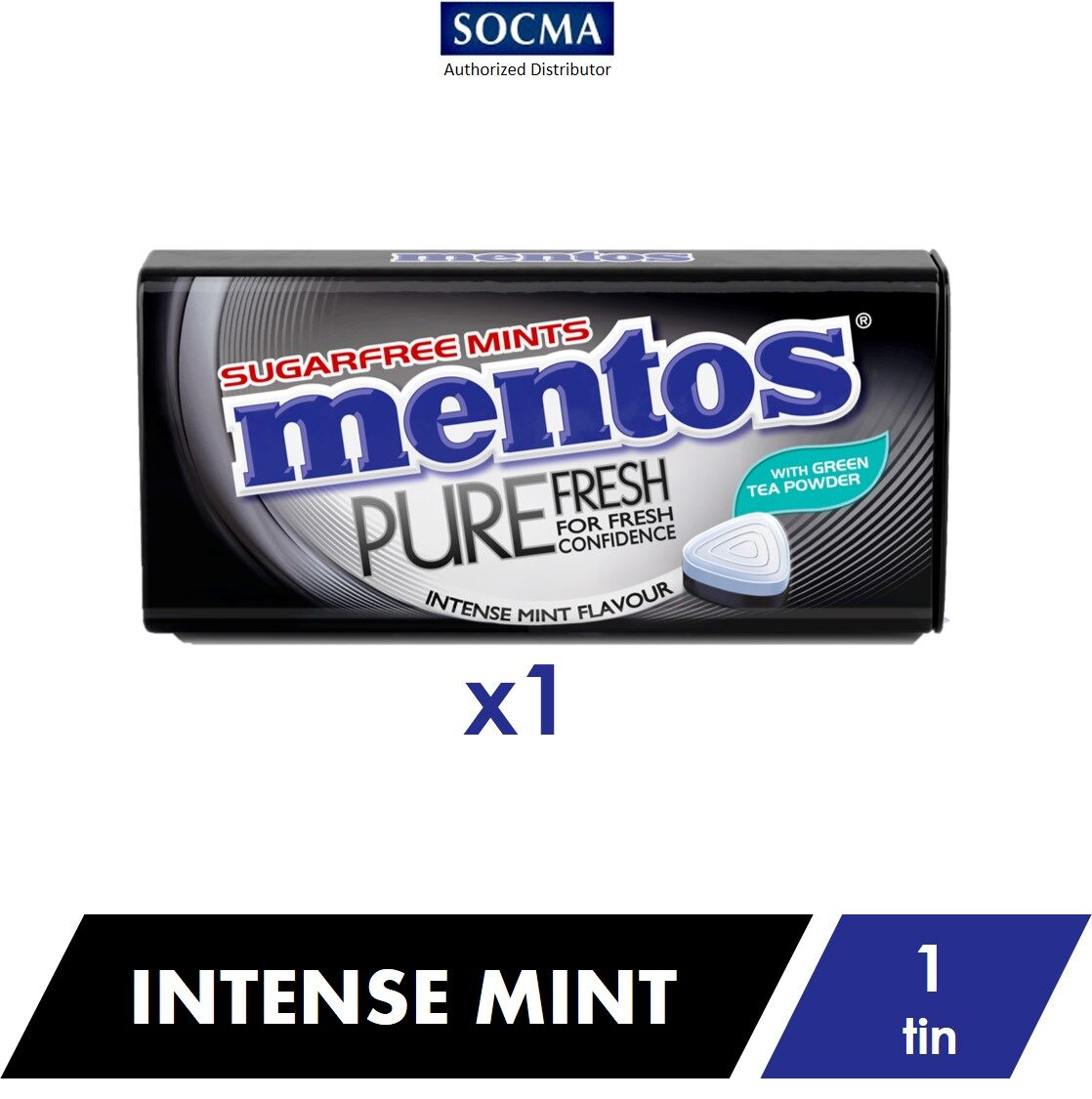 Mentos Pure Fresh Tin Intense Mint 35G [1]