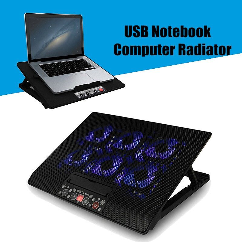 Fans & Heatsinks - 17 Inches Notebook Radiator Cooling Exhaust Fan Computer Support Cooling Base - Components