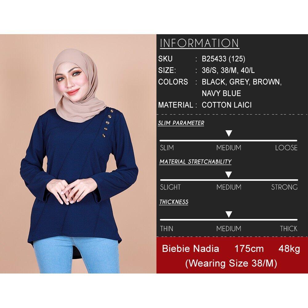 2021 Raya Collection Masha Hi Low Shoulder Button Blouse Regular Fit Blouse Baju Raya BEST SELLER