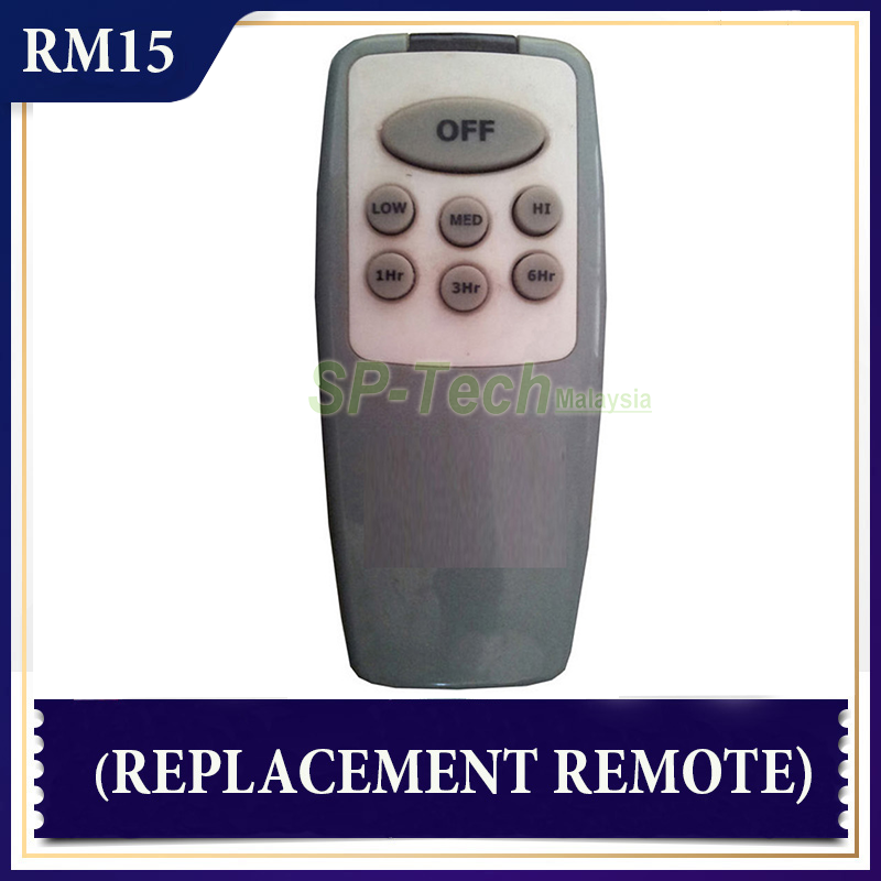 DEKA 2005 FAN REMOTE CONTROL (REPLACEMENT)- GREY