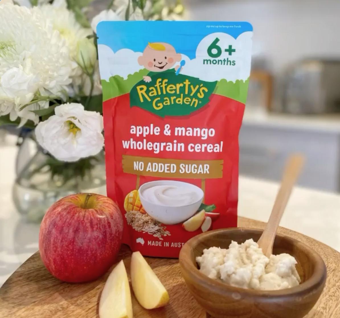 Rafferty's Garden Apple & Mango Wholegrain Baby Cereal Baby Rice