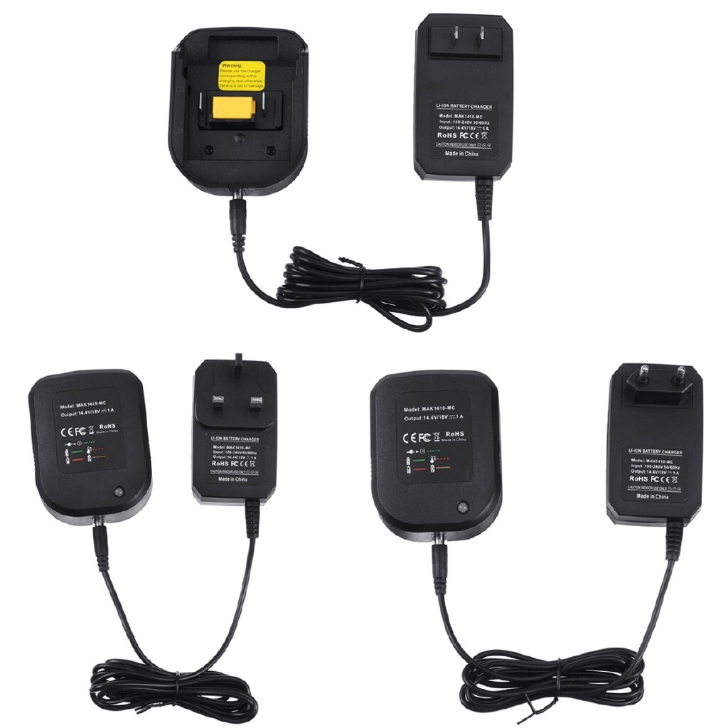 Chargers - Battery Charger For Makita 14.4V 18V Li-ion BL1830 BL1840 BL1430 LXT200 LXT400 - UK