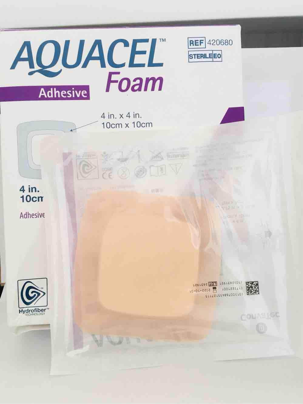 Aquacel Foam Adhesive 1pcs (10cm x10cm)