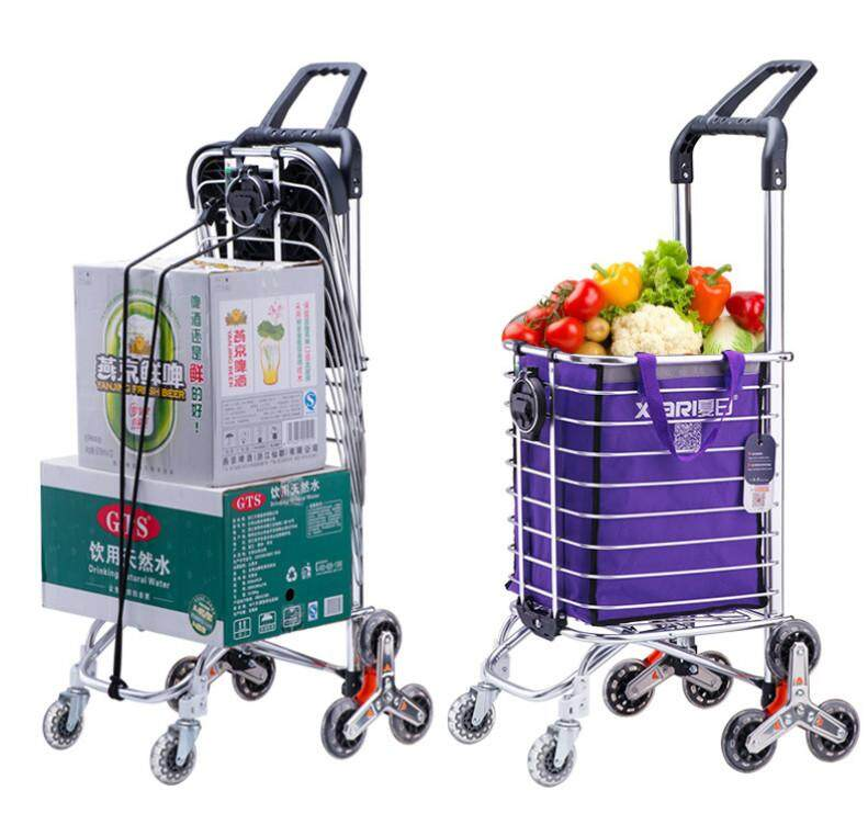 Smart Trolley Shopping Cart Easy Climbing Portable Folding Trolley Home Trailer