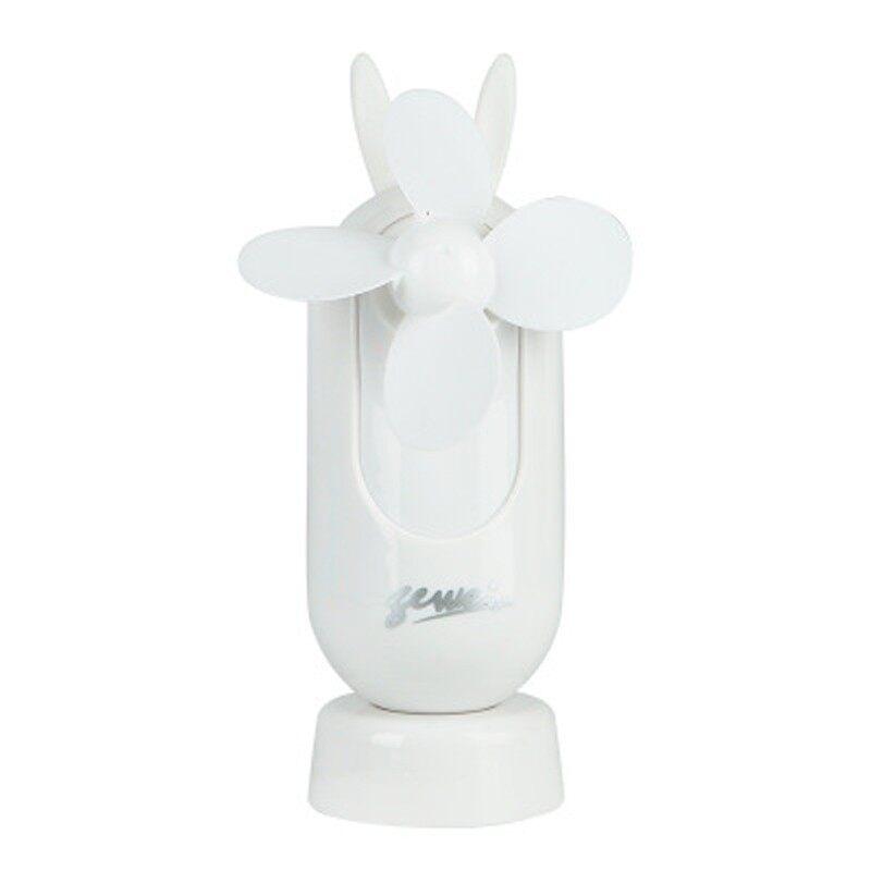 PORTABLE Fan USB Charging Silent Handheld Fan Indoor Outdoor Desktop Vertical Cartoon - WHITE / PINK / BLUE / GREEN