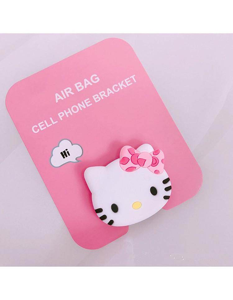 Cute Kitty Cat Cartoon Pattern Airbag Cellphone Bracket Phone Stand Holder