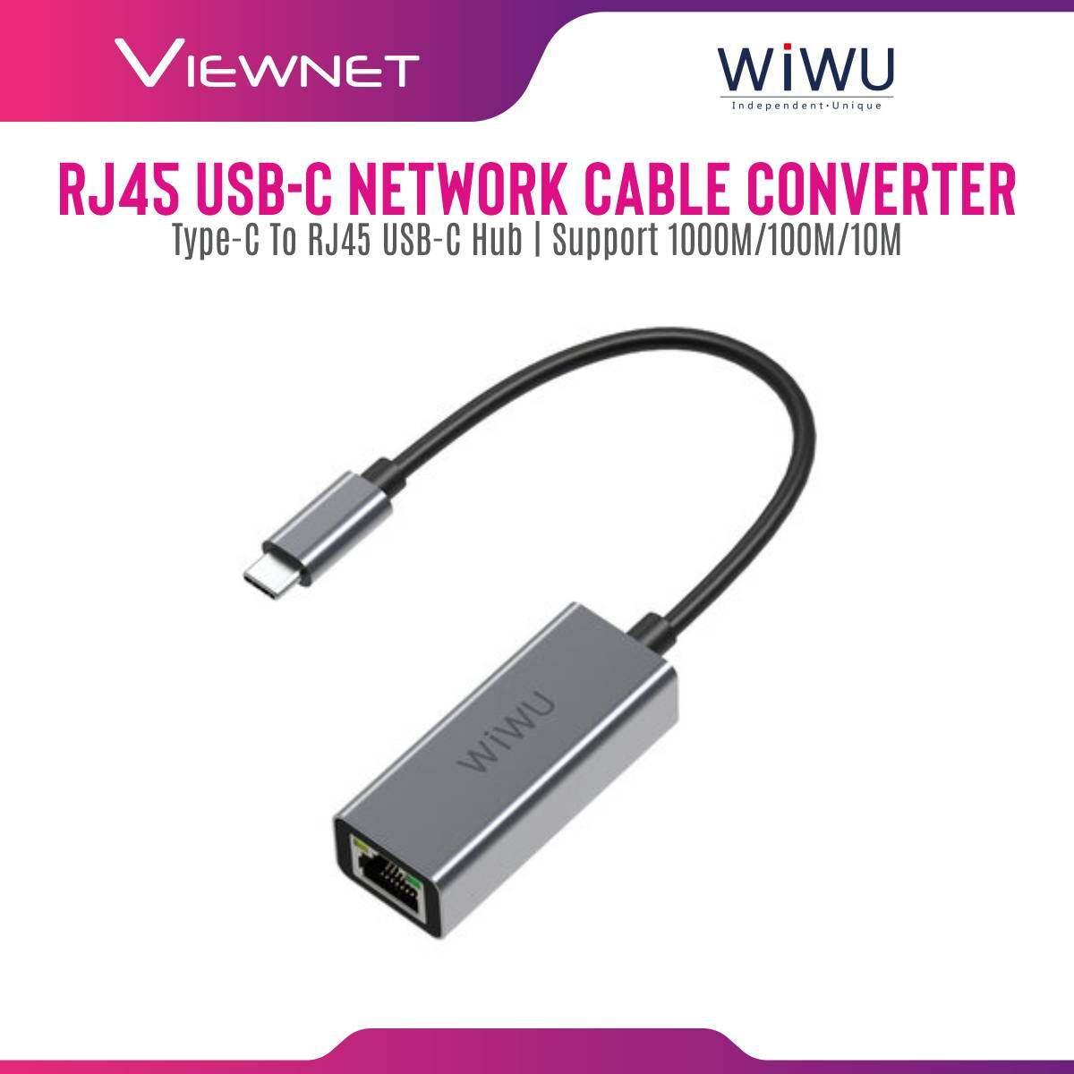 WIWU Alpha Type-C to RJ45 USB-C Hub 10/100/1000M Gigabit Network Cable Converter for MacBook Air Pro 2019 2020