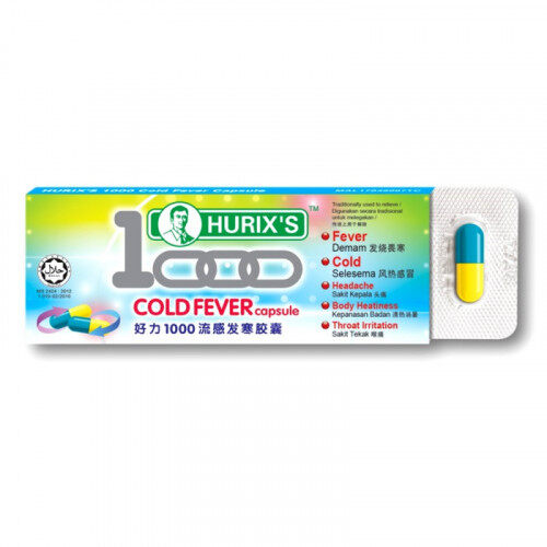 HURIX'S 1000 COLD FEVER CAPSULE (6'S)