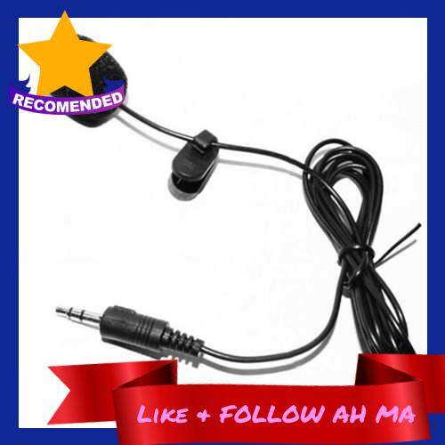 Best Selling External Clip-on Lapel Lavalier Microphone 3.5mm Jack for Phone Handsfree Wired Condenser Mic for Teaching Speeching Black (Black)