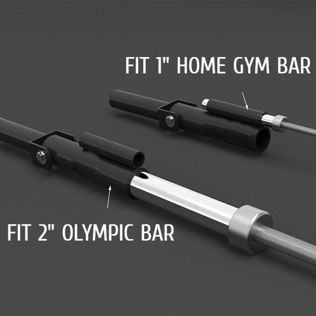FITUALIZED T-Bar Row Plate Post Insert Landmine Attachments & Handles For Easy Use in Small Spaces- Squat Rack- 360 Swivel- Durable Thick & Rust Free Steel Material- Easy Installation- Stress Free- Fits 1 Standard and 2 Olympic Bars- Back Exercises