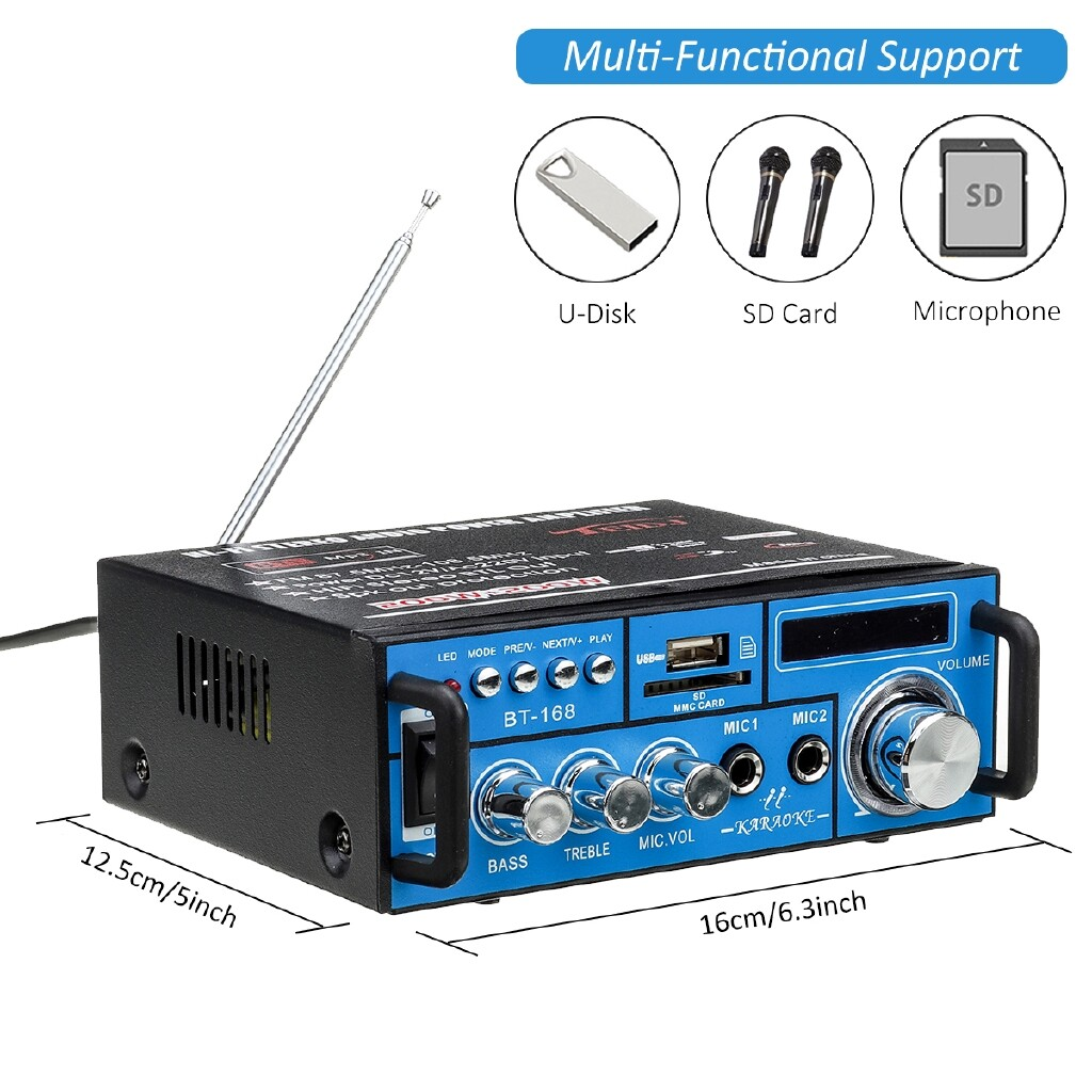 Amplifiers & Receivers - 400W Digital BLUETOOTH Audio Amplifier StereoRadio HIFI Power LCD Car Home 12V - Home Entertainment