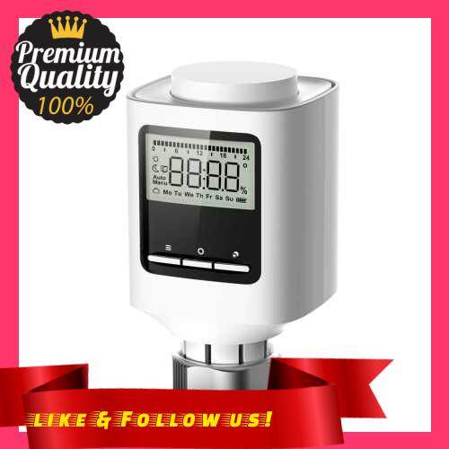 People\'s Choice ZigBee Thermostatic Radiator Valve Weekly Programmable Smart Heating Radiator Thermostat APP Control Voice Control Window-Opening Anti Freezing Function Indoor Constant Temperature Controller (Standard)