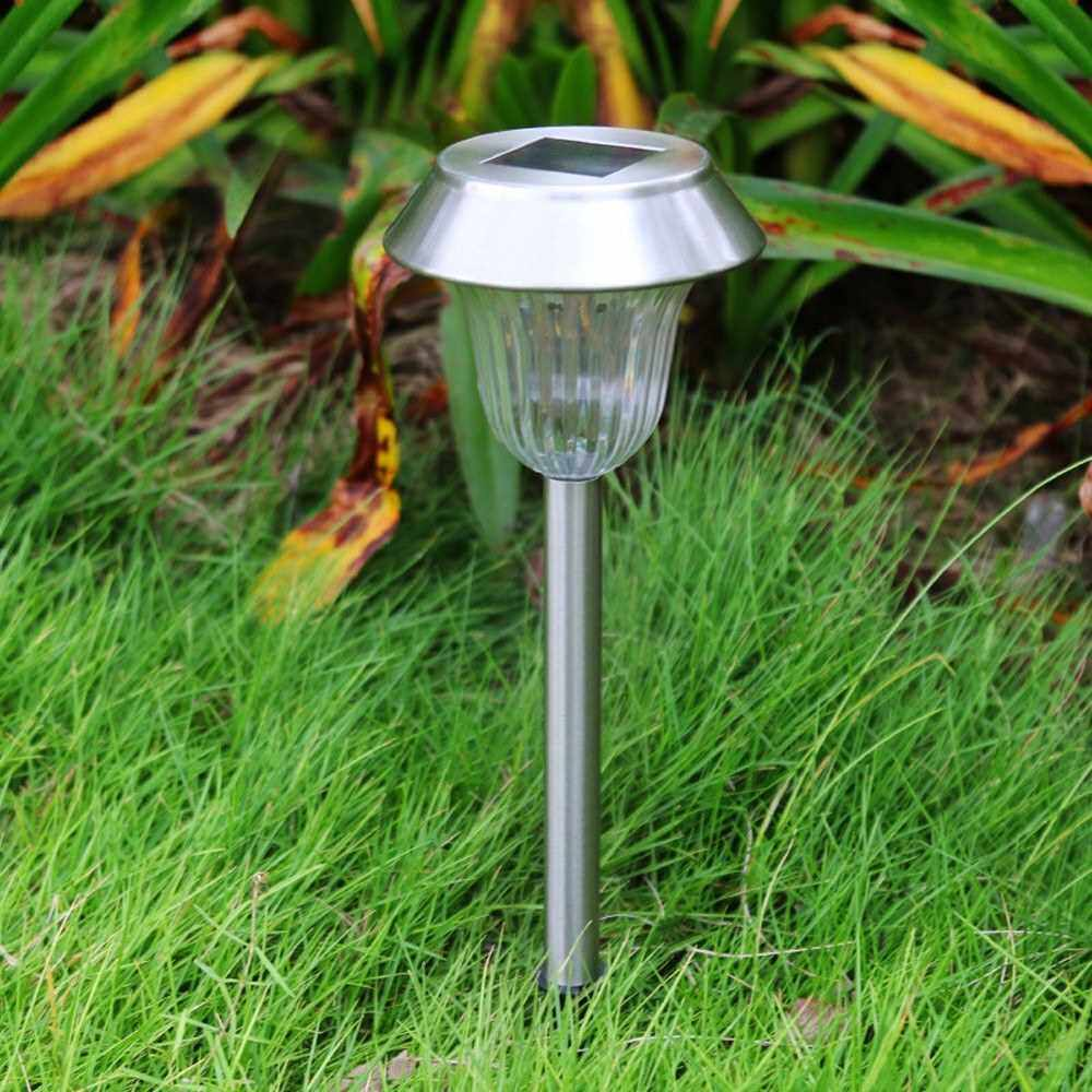 Best Selling 8 Pack Solar Garden Lights Outdoor Stainless Steel Color Changing LED Pathway Lamp Garden Decoration Landscape Lighting for Patio, Lawn, Yard Walkway (Multicolor)