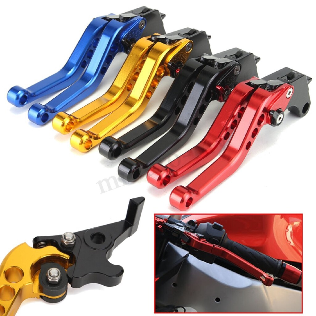 Moto Accessories - For Honda Grom MSX125 14-17 Modified Lever Short Clutch Brake Red/Yellow/Black - RED / BLUE / YELLOW / BLACK