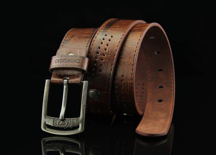 (NEW) [M'sia Warehouse Direct] 2019 Korean Series Mens Pin Buckle Belt Perfect Gift For Love (Come With Box) one Luxury Classy English Style Leather Belt Suitable For Formal Wear Jeans Casual Wear Belt Long Lasting Tali Pinggan Kulit Halal