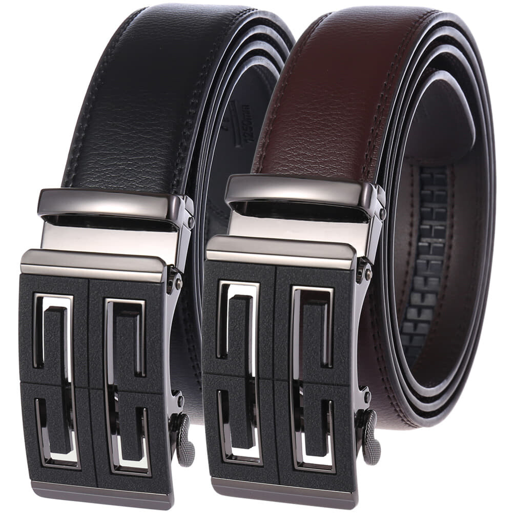 (NEW) 100% Cowhide Leather Belt 2020 Korean Series Scrub Men Automatic Buckle Belt [Msia Warehouse Direct] Perfect Gift For Love One (can request box) Laser Zinc Alloy Suit Casual & Formal Wear Black Brown Belt Long Lasting Tali Pinggan Lelaki Kulit Halal