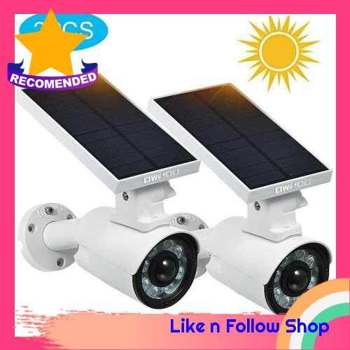 OWSOO Solar Lights Outdoor LED Solar Security Lights with Motion Sensor IP66 Waterproof Adjustable Solar Motion Lights for Porch Corridor Yard Garden Streets (2)