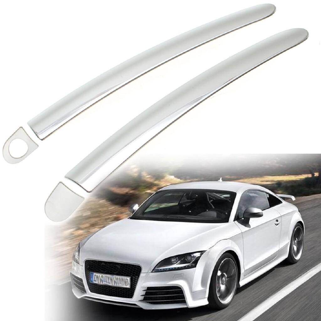 Car Accessories - 2x Chrome ABS Plastic Door Handle Cover Trim Adhesive For 99-14 Audi TT Coupe - Automotive
