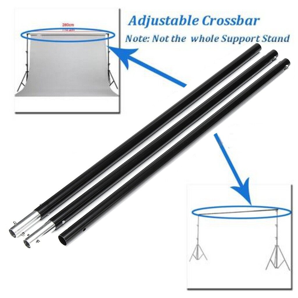 Lighting and Studio Equipment - 2 PIECE(s) 6.6FT Adjustable Crossbar Photography 3 Sections Photo Background Support - Camera Accessories