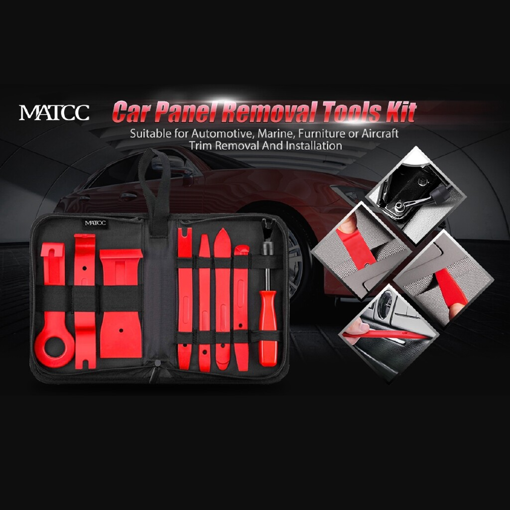 Automotive Tools & Equipment - 7 PIECE(s) Car Interior Trim Disassembly Tool Panel Radio Body Clip Installer Kit SET - Car Replacement Parts