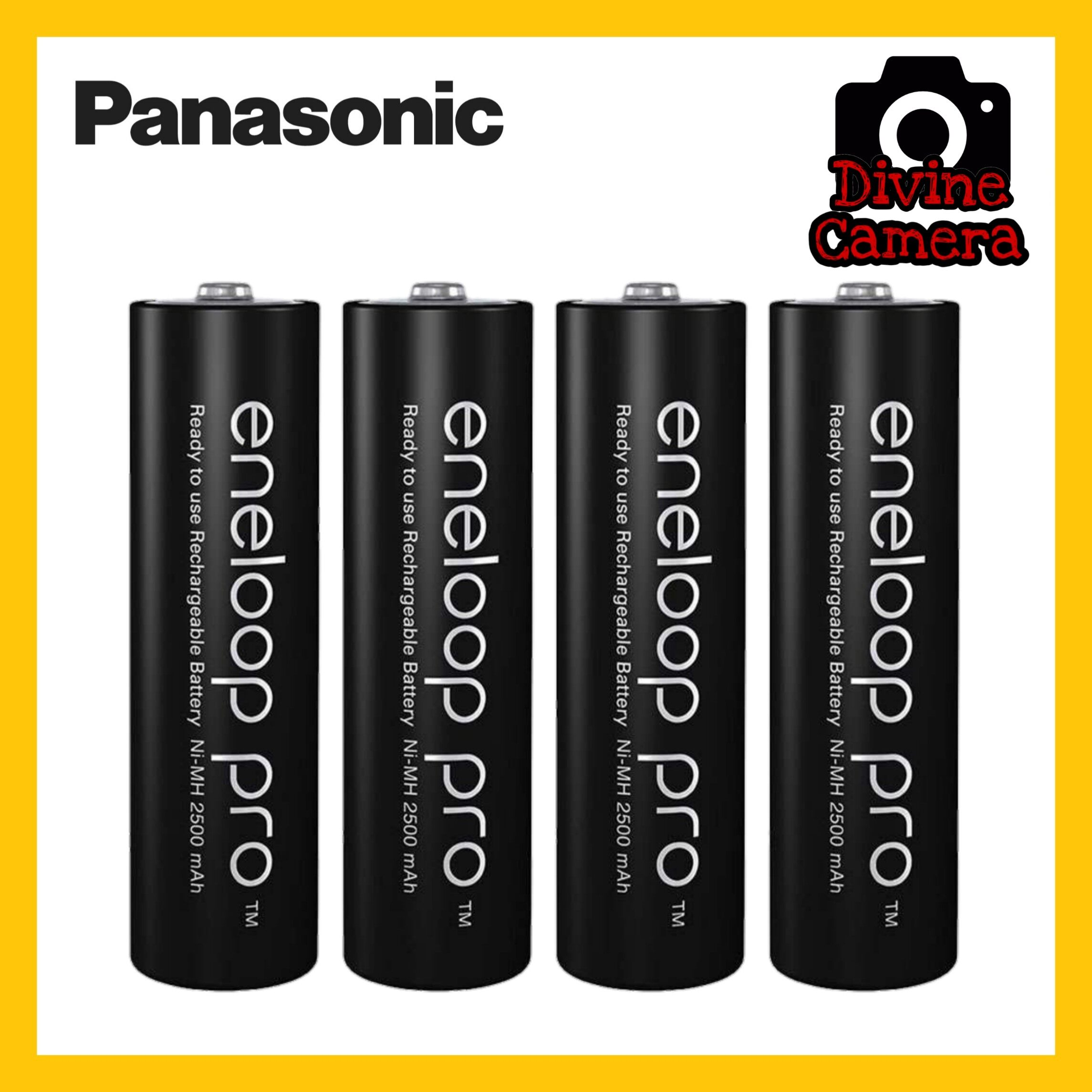 Panasonic Eneloop Pro Rechargeable AA Ni-MH 4 x Batteries with Charger (2550mAh) Highlights K-KJ55HCC40M