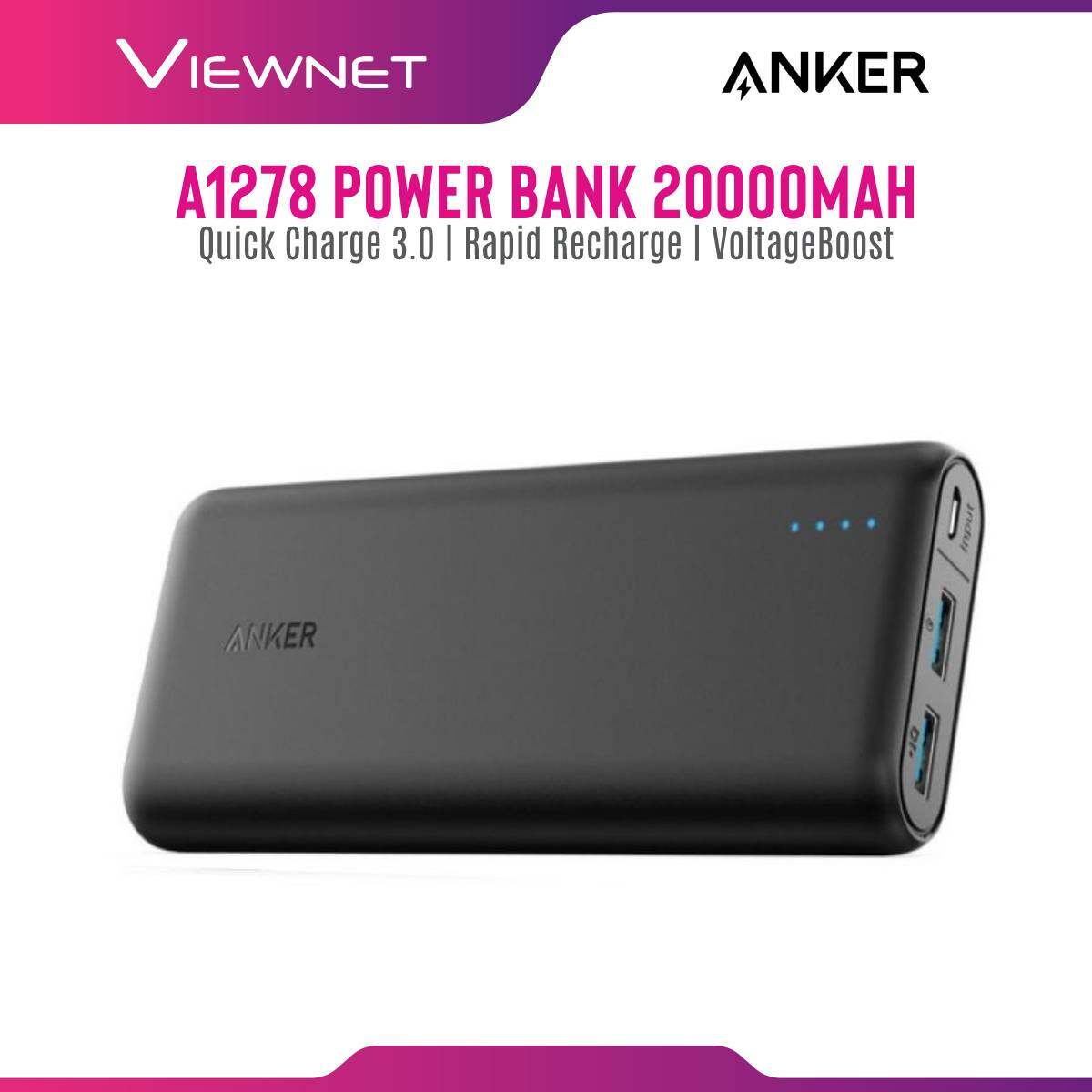 Anker A1278 PowerCore Speed 20000mah Power bank With Quick Charge 3.0