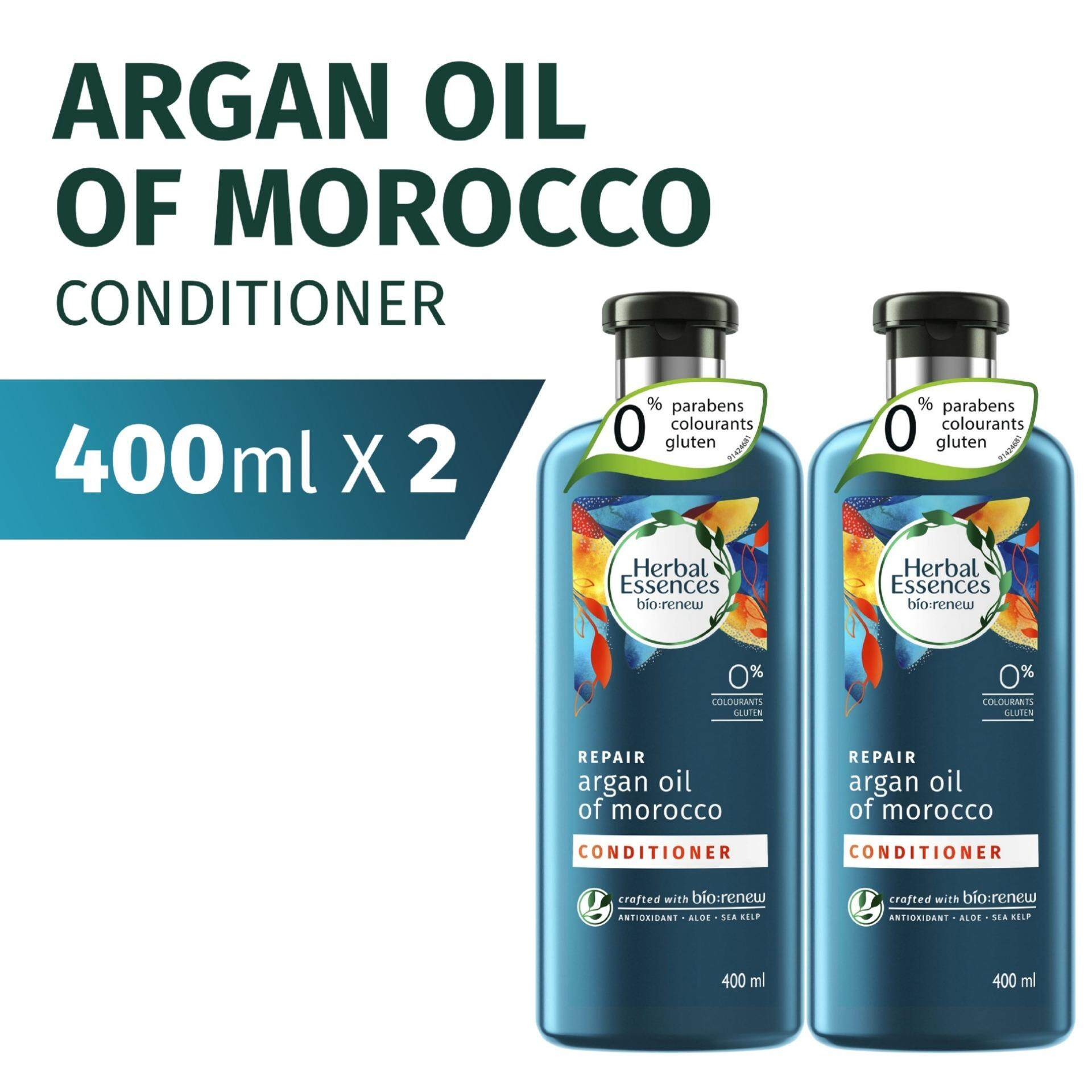 Herbal Essences Bio:Renew REPAIR Argan Oil of Morocco Conditioner 400ml [BUNDLE OF 2]