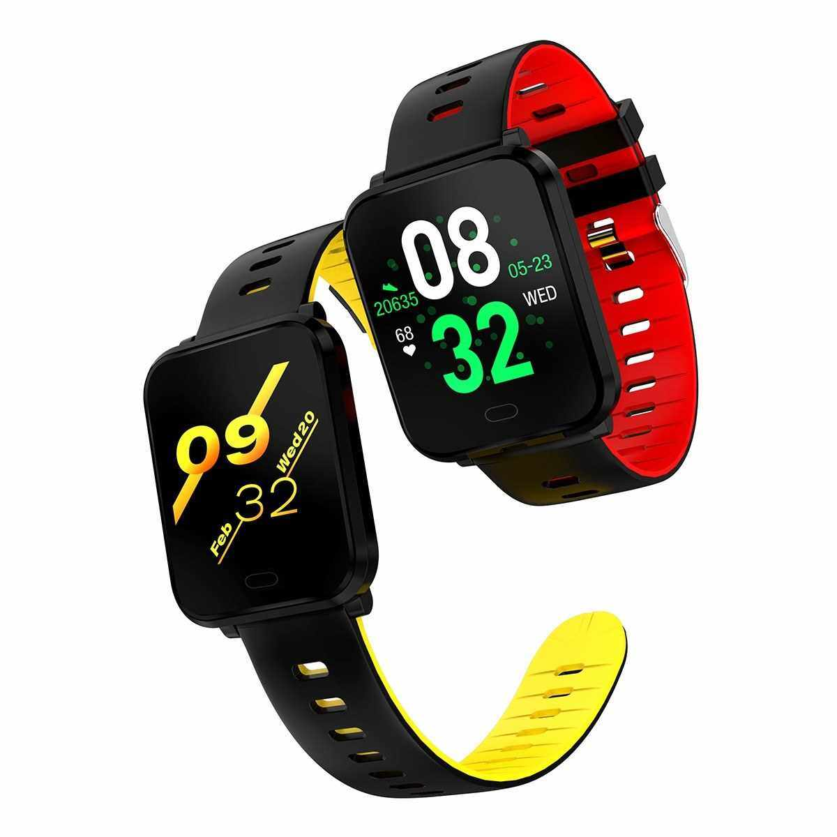 Best Selling K10 PLUS Smart Bracelet 1.3-Inch Square Face Smart Watch IP68 Waterproof Sport Smartwatch with Heart Rate/Blood Pressure Monitor Sleep Tracker Multiple Workout Modes Pedometer Notifications Reminder Remote Shutter Alarm Clock Stopwatch for M