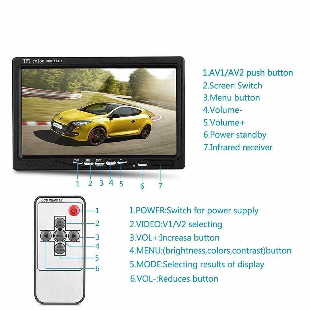 Best Selling 12V/24V Car Bus 7 inch LCD Monitor Reversing Camera Kit with Remote Controller (Standard)