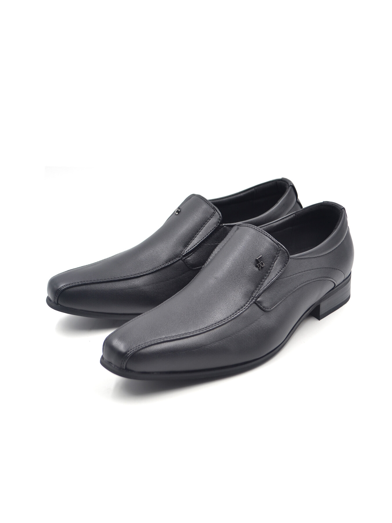 LR Larrie Black Classy Smooth Panel Business Shoes 902001-TL2-1P-BLACK