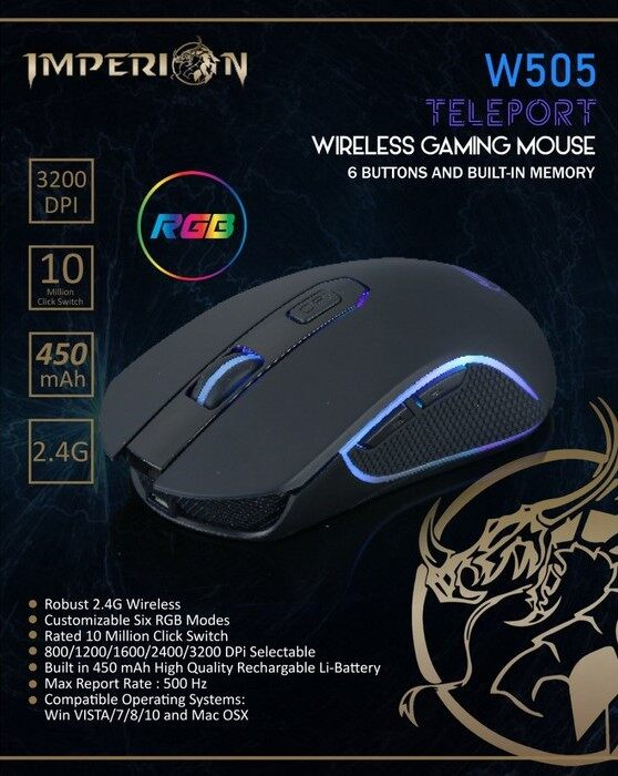 IMPERION W505 WIRELESS GAMING MOUSE