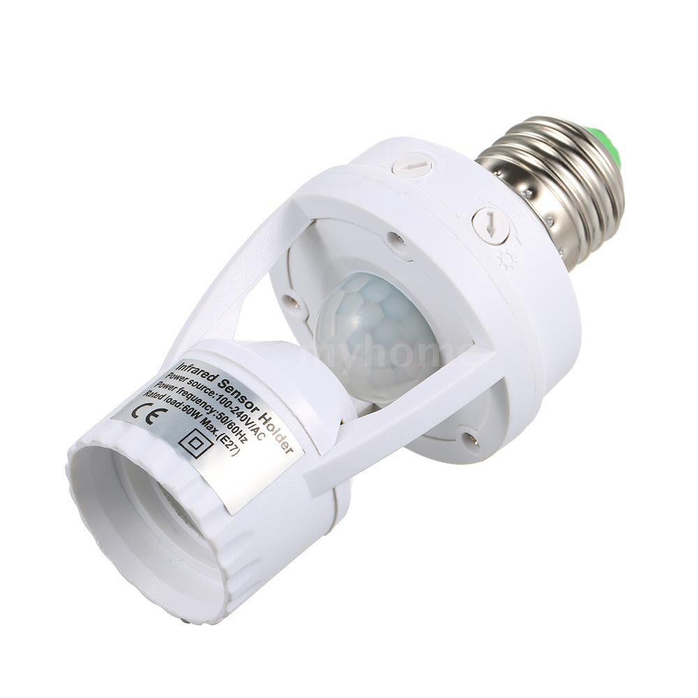 Lighting - Sensitive PIR Motion Sensor E27 LED Bulb Base Socket Infrafed Automatic Light Lamp Holder Switch - Home & Living