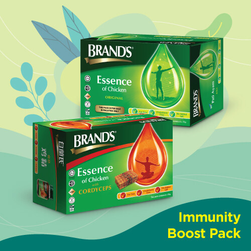 [Immunity Booster Pack] Brand's Essence of Chicken (6's x 70gr) + Brand's Essence of Chicken with Cordyceps (6's x 70gr)