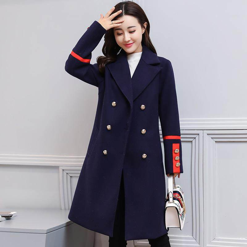(Pre Order14 Days JYS Fashion Korean Style Women Winter CoatCollection522-8656col522-8656--Navy Blue -M
