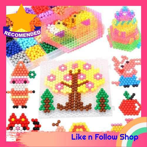 Factory direct spot water mist magic magic beads classic magic water spray painting children puzzle water sticky beads toys 10 color square box (Standard)