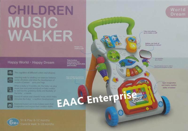 READY STOCK Huanger 2 in 1 Baby Music Walker Stroller