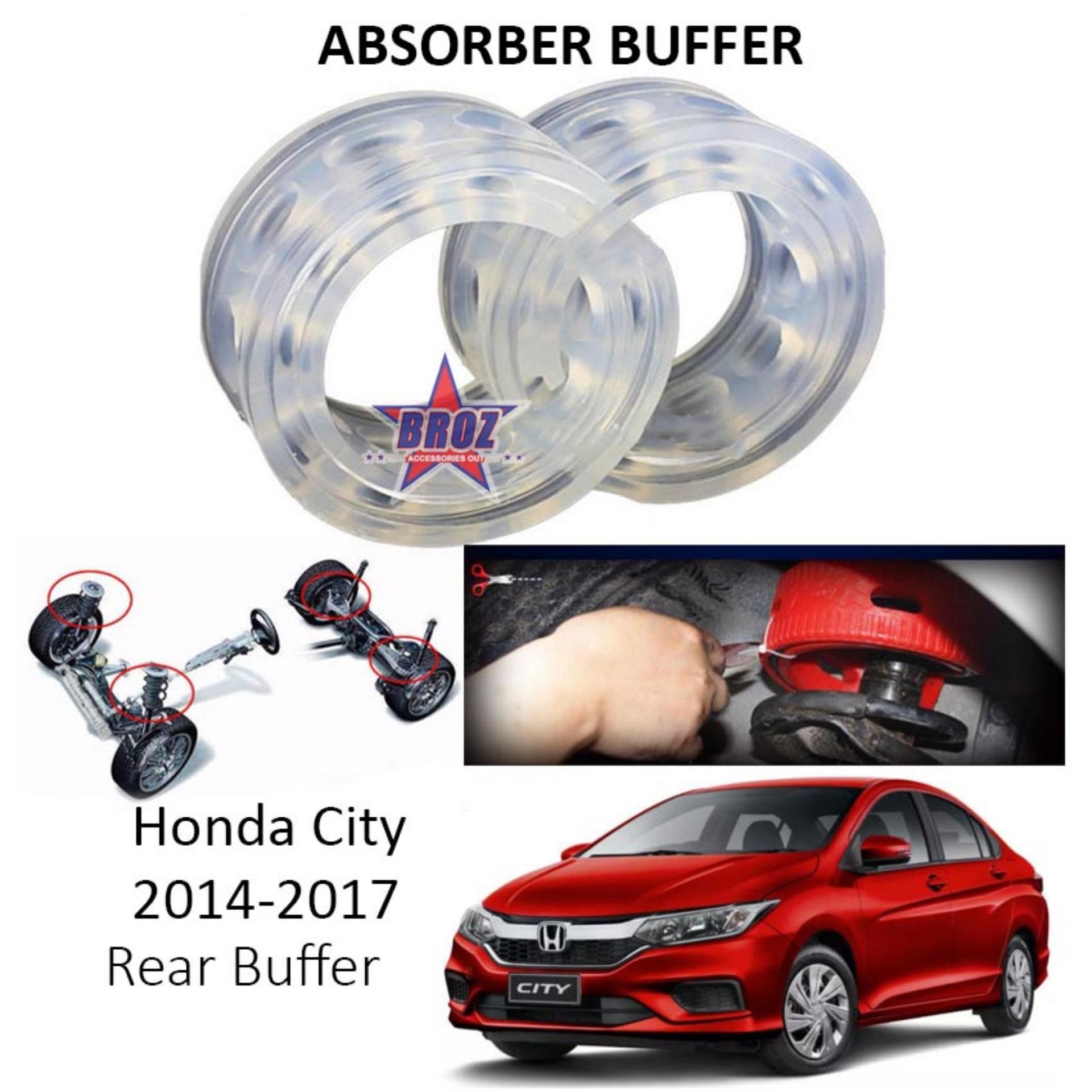 Broz OEM Rear B-Type Car Shock Absorber Buffer /Spring Bumper/ Power Cushion Buffer (Transparent) for City 2014-2017