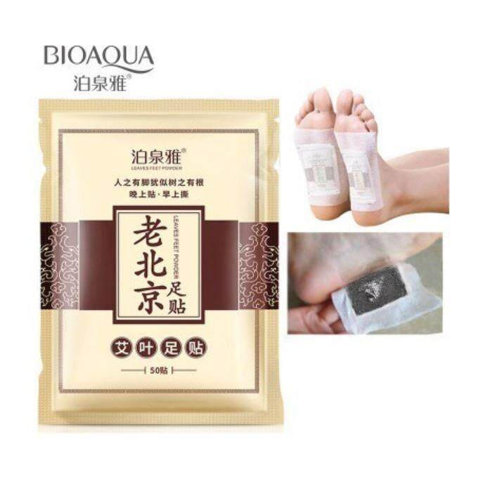 BIOAQUA Old Beijing Detox Foot Pad Versus Sticky Detox Weight Loss Foot Patch Clean Herbal Glue Health Foot Patch 50PCS(25pairs)